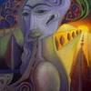 Marion Lucka: Am Wegrand, Öl, 50 x 60 cm (1995)