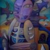 Marion Lucka: Totenvögel, Öl, 60 x 70 cm (2004)