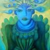 "Marion Lucka: Ölgemälde ""Blaue Fremde"" 60 x 80 cm (Juni 2018)"