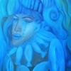 "Marion Lucka: Ölgemälde ""Blaue"" 60 x 80 cm (2018)"