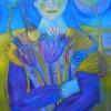 """Marion Lucka: Ölgemälde """" Blauhaarige"""" 60 x 80 cm (2012) überarbeitet"""