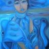 """Marion Lucka: Ölgemälde """" Wasserträumende"""" 70 x 100 cm (2018)"""