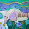 """Marion Lucka: Ölgemälde """"Blonde, liegend"""" 70 x 100 cm (2013)"""