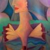 Marion Lucka: Flügelfrau, Öl, 50 x 70 cm (2008)