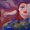 Marion Lucka: Flug, Öl, 60 x 80 cm (2007)