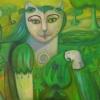 """Marion Lucka: Ölgemälde """" Frühlingsbotin"""" 70 x 100 cm (2018)"""