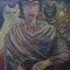 "Marion Lucka: Ölgemälde ""Freundschaft"" 90 x 110 cm (1998)"
