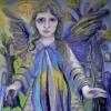 Marion Lucka: Friedhofsengel, Öl, 60 X 70 cm
