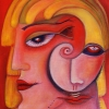 """Ölgemälde """" Gesicht"""" 30 x 40 cm (2019)"""