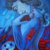 "Marion Lucka: Ölgemälde "" Fischfrau, dunkel"" 60  x  80  cm (2018)"