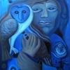 """Marion Lucka: Ölgemälde """" Januarblau"""" 60 x  80 cm (2019)"""