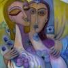 Marion Lucka: Lichtblumenpaar, 50 x 70 cm, (2015)