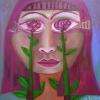 "Marion Lucka: Ölgemälde ""Maifrau 2"" 30 x 30 cm (2019)"