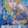 Marion Lucka: Blumige, 60 x 80 cm (2009)