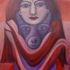 "Ölgemälde ""Wolfsfrau"" 70 x 100 cm (2020)"
