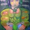 "Marion Lucka: Ölgemälde ""Persönlicher Heilengel"" 60 x 80 cm (Mai 2018)"