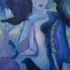 """Marion Lucka: Ölgemälde """"Rabenfrau"""" 60 x 80 cm (2012)"""