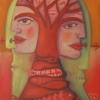 """Ölgemälde """"Roter Baum"""" 30 x 40 cm (2020)"""