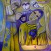 Marion Lucka: Schutzengel, 100 x 100 cm (20015)
