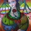 """Marion Lucka: Ölgemälde """"Sommer-Herz-Schmerz"""" 60 x 80 cm (3. Juni 2019)"""