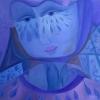 Marion Lucka: Traurige, Öl, 60 x 60 cm (2010)