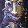 "Ölgemälde ""Versteckte"" 30 x 40 cm (1996)"