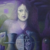 Marion Lucka: Widderfrau, 60 x 70 (1993)