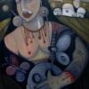 Marion Lucka: Schwarze Frau, Öl, 60 x 80 cm (2004)