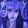 Marion Lucka: Traurige,Öl, 50 x 50 cm (2013)