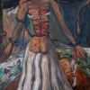 Marion Lucka: Braut, Acryl, 50 x 70 cm (1996)