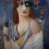 Marion Lucka: Frau mit Maske und Hut, Öl, 60 x 80 (2009) 60 x 80 cm (2009)