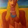 Marion Lucka: Atlanterin, Öl, 30 x 40 cm (1994)