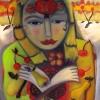 Marion Lucka: Besommerte, 50 x 60 cm (2015)