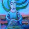 "Marion Lucka: Acrylgemälde "" Blauengel"" 40 x 50 cm (Oktober 2017)"