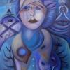 "Marion Lucka: Ölgemälde ""Blaugraue Erinnerung "" 70 x 100 cm (2018)"