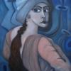 """Marion Lucka: Ölgemälde """" Blickende"""" 60 x 80 cm (2009)"""