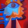 Marion Lucka: Fischauge, Öl, 40 x 50 cm (2000))