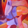 Marion Lucka: Frühlingsgesicht, Öl, 60 x 80 cm (2006)
