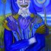 Marion Lucka: Frau mit Blumenstrauß, Öl, 60 x 80 cm (2015)