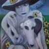 Marion Lucka: Frau mit Hund und Hut, (2015)