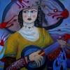Marion Lucka: Frau mit Monsterhut, 60 x 80 cm (2013)