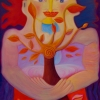 "Marion Lucka: Ölgemälde "" Sonnenfreundinnen"" 60 x 80 cm (2004)"