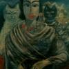 Marion Lucka: Freundschaft2, Öl, 100 x 120 cm (1998)