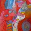 """Marion Lucka: """"Frohsinn"""", 60 x 80 cm (2000)"""