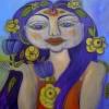 Marion Lucka: Gelbblumige, 60 x 60 (2015)