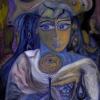 Marion Lucka: Herbstgeisterfrau, Öl, 60 x 80 cm (2015)