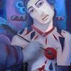 Marion Lucka: Herzblut, 60 x 80 cm (2009)