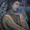Marion Lucka: Totenengel, Öl, 60 x 80 cm (2008)