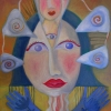 Marion Lucka: Dreiaugenfrau, 30 x 40 cm (2007) Künstlerhaus Schirnding