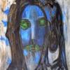 Marion Lucka: Schrei in der Nacht, Öl, 70 x 80 cm (1998)
